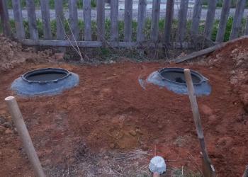 Два колодца под септик готовы